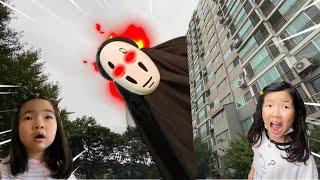 거인 괴물 가오나시 출몰! 가오나시가 거인으로 변했어요! 거인유령 유령거인 괴물거인 Giant ghost is coming l Run away from giant monster
