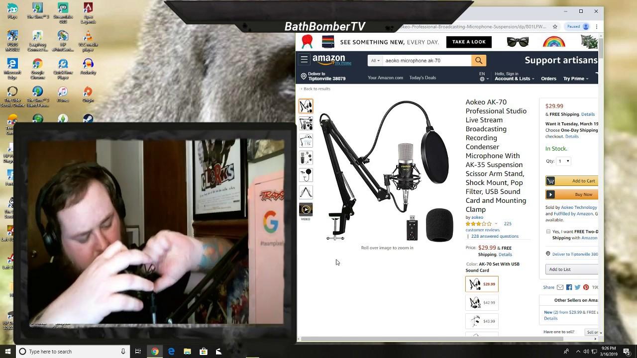 Aokeo AK-60 Professional Studio Live Stream Broadcasting Recording Condenser USB