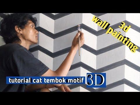 mural dinding motif 3d- tutorial cat  motif 3d- 3d wall painting