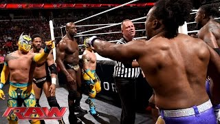 The Prime Time Players &amp The Lucha Dragons vs. The New Day &amp Bo Dallas Raw, June 29, ...