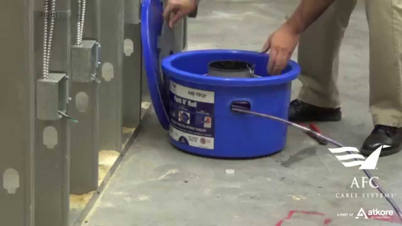 Pack N\' Roll™ by AFC Cable Systems - A cable dispenser geared for ...
