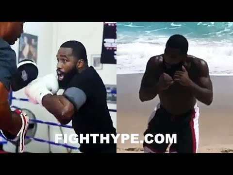ADRIEN BRONER LETTING HANDS FLY; BEACH WORKOUTS BRING CHANGE IN MOTIVATION FOR JESSIE VARGAS CLASH