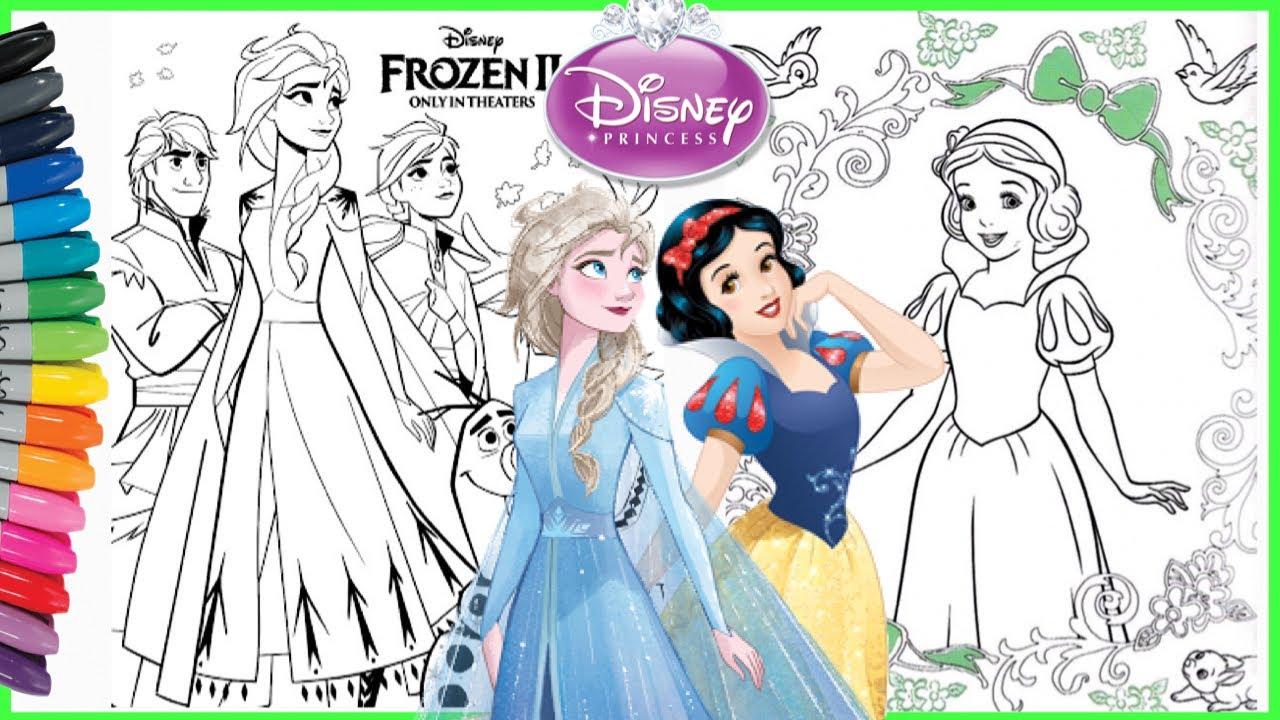 Mewarnai FROZEN 2 Disney Princess Colouring Pages