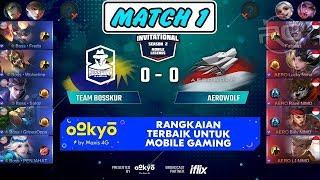 Pertarungan Sengit Rasa MSC !!! Team Bosskur vs Aerowolf Match 1 MS...