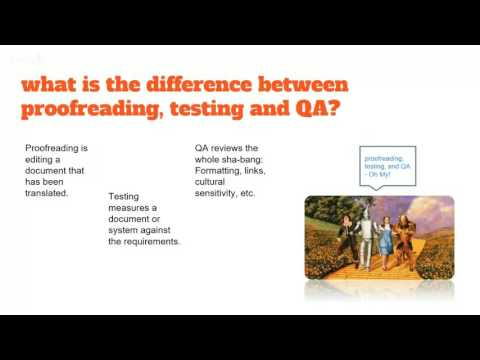 Let's Talk Proofreading Testing and QA
