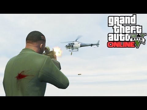 GTA 5: Secret Helicopter Weak Spot! How To Take Down Helicopters Super Fast (Grand Theft Auto 5)