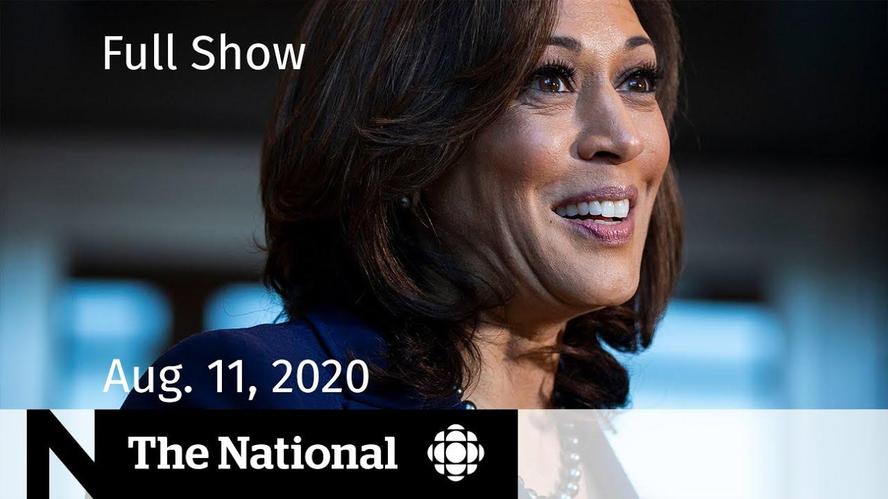 CBC News: The National   Aug. 11, 2020   Kamala Harris breaks barriers as Joe Biden's VP pick