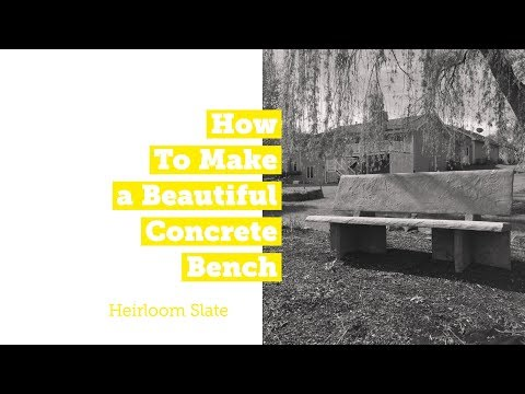 How to Make a Beautiful Concrete Bench with Precast Molds