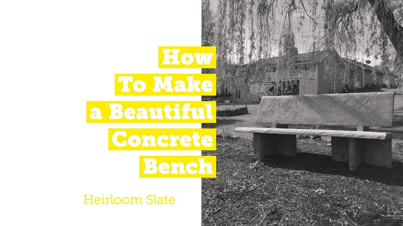How to Make a Beautiful Concrete Bench with Precast Molds - YouTube