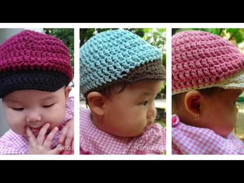 Baby Baseball Hat Crochet Tutorial