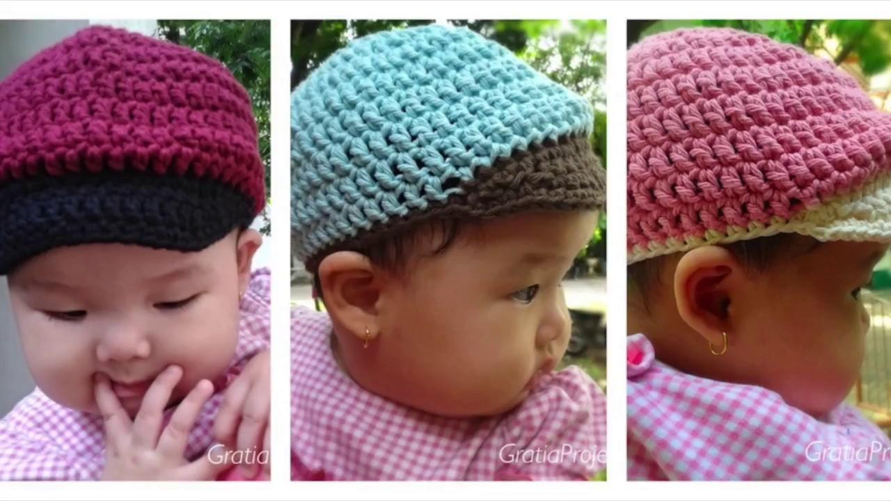 Baby Baseball Hat Crochet Tutorial Youtube Crochet Hats Newborn Crochet Patterns Crochet Baby Hats