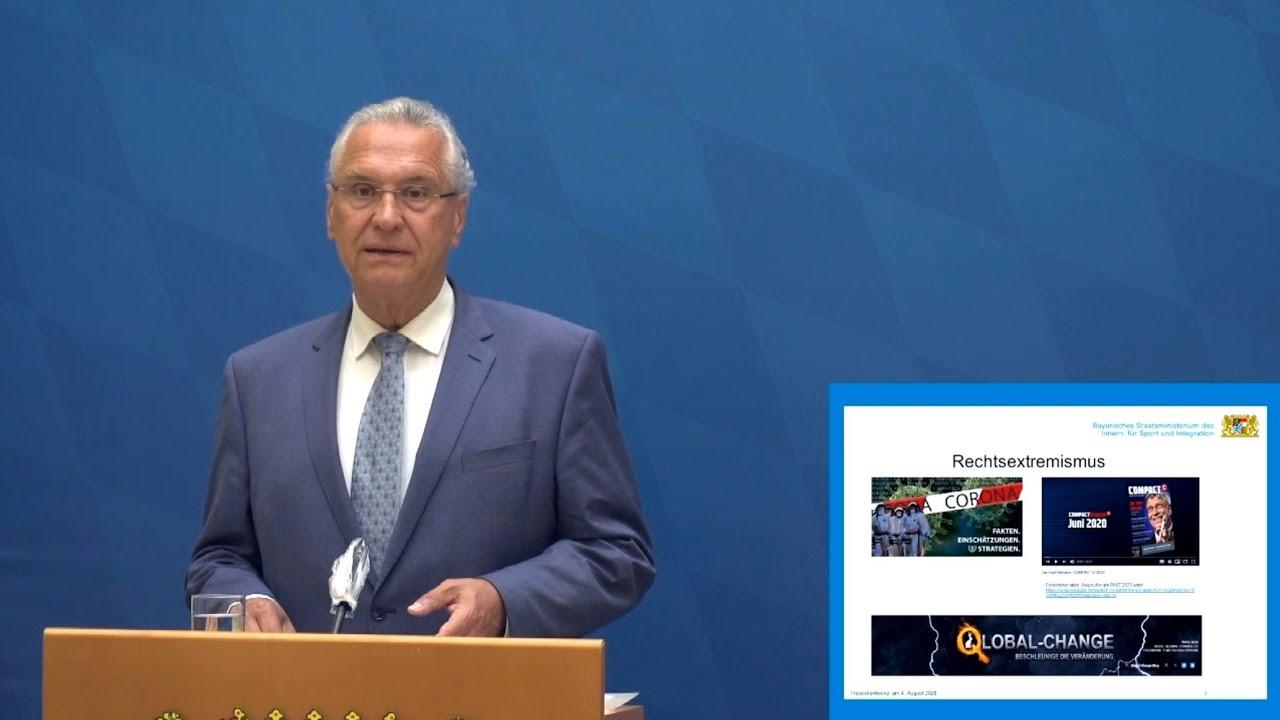 Pressekonferenz zur Vorstellung der Verfassungsschutzinformationen für das 1. Halbjahr 2020 - Bayern