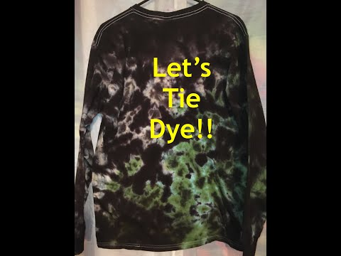 Three Color Crinkle Style Tie Dye Shirt Tutorial - Camo Colors
