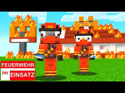 Feuerwehr Im Einsatz: McDonald's Großbrand - Feuer Löschung - Rettung - Minecraft Film Deutsch
