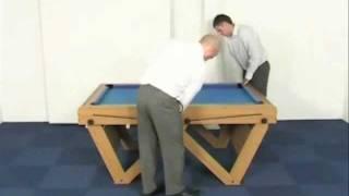 Bce 6ft W-leg Folding Pool Table Fspw-6