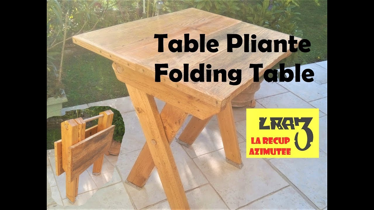 Table Pliante / Folding Table