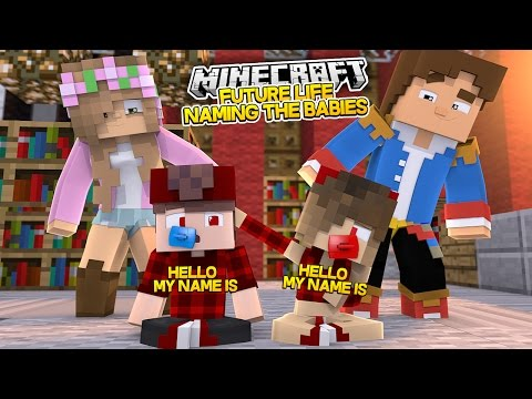 LITTLE KELLY NAMES HER TWIN BABIES! Minecraft Future Life w/Little Donny (Custom Roleplay)