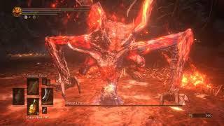 [Dark Souls 3] Dragonslayer Great Axe vs Demon Prince (Lv118 Str Dex Faith buidl)