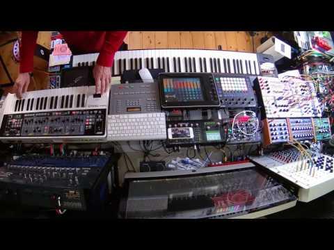 Hardware synths live jam - MMT-8, Circuit, Pulse 2, DRM1 etc. - 'Moss Garden Return'