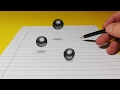 3D Trick Art Drawing - Levitating Ball Bearings