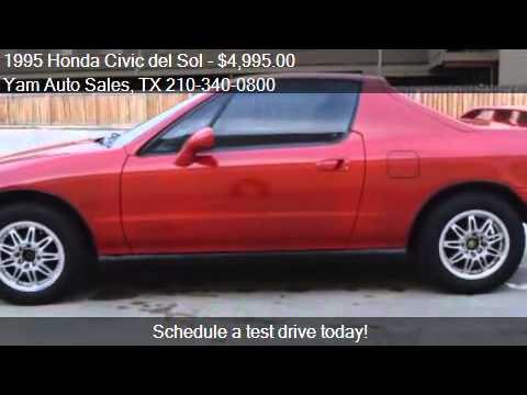 1995 Honda Civic del Sol for sale in SAN ANTONIO, TX 78216 a