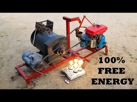 How to make 220V Powerful Free Energy Generator