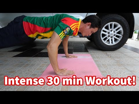 Download Youtube: Intense 30 Minute Workout (NO EQUIPMENT) - My Workout Routine!