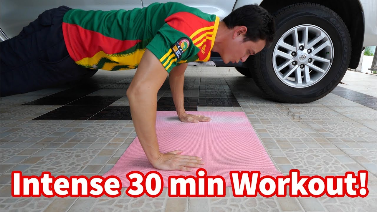 Intense 30 Minute Workout (NO EQUIPMENT) - My Workout Routine!