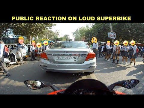 LOUD SUPERBIKE GIRLS REACTION | BORN CREATOR