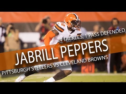 Jabrill Peppers BROWNS DEBUT Highlights vs Steelers // 4 Tackles, 1 Pass Defended // 9.10.17