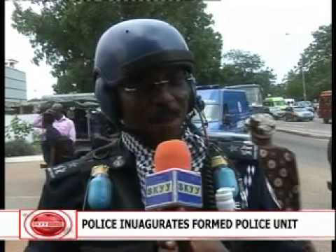 FORMED POLICE UNIT (FPU) INUAGURATED - YouTube