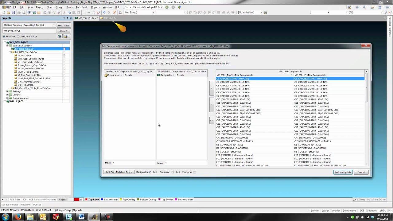 Altium Designer - Schematic/PCB Synchronization