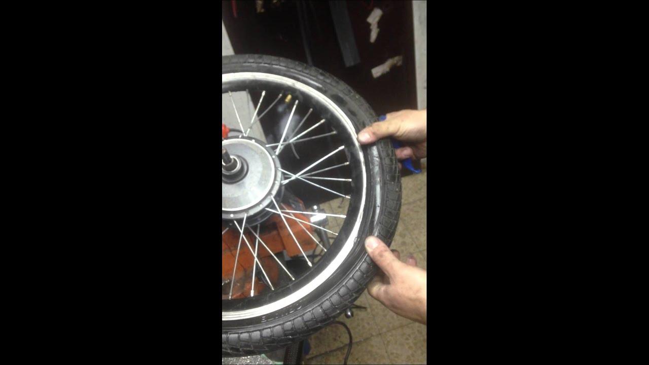 תיקון פנצ׳ר באופניים חשמליים ( הובי ניטרו)