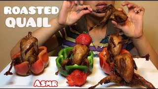 ASMR ROASTED QUAIL ( Eating Sounds) No Talking