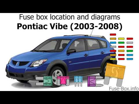 [GJFJ_338]  Fuse box location and diagrams: Pontiac Vibe (2003-2008) - YouTube | 2007 Pontiac Vibe Fuse Box Diagram |  | YouTube