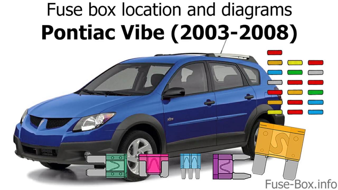 Fuse box location and diagrams: Pontiac Vibe (20032008)  YouTube