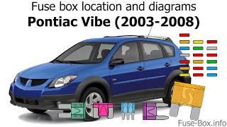 [DHAV_9290]  Fuse box location and diagrams: Pontiac Vibe (2003-2008) - YouTube | 2007 Pontiac Vibe Fuse Box Diagram |  | YouTube