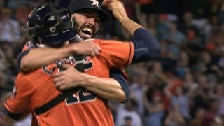 8/21/15: Fiers tosses no-hitter in Astros' 3-0 win