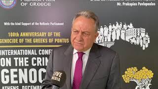 Παναγιώτης Γιαταγαντζίδης / Δικηγόρος, Αθήνα Διεθνές Συνέδριο για το Έγκλημα της Γενοκτονίας