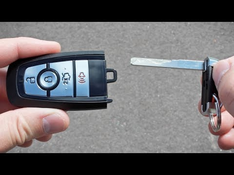 How to Open/Start a Push Button 2017 Ford Fusion with a Dead Key Fob Battery
