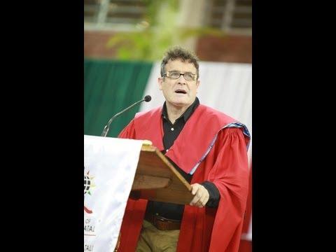 Johnny Clegg Sings Warsong at UKZN Graduation