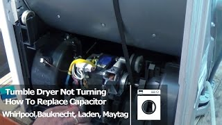 tumble dryer not turning error code how to replace capacitor whirlpool bauknecht laden maytag