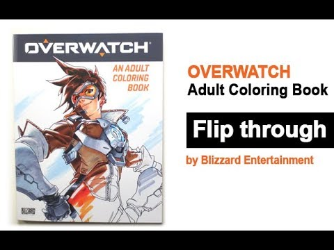 Overwatch Adult Coloring Book Flip Through Tracer Youtube