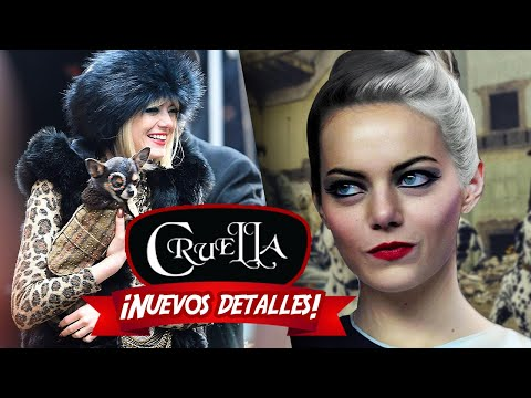¡NUEVOS detalles de EMMA STONE como CRUELLA! 🐶