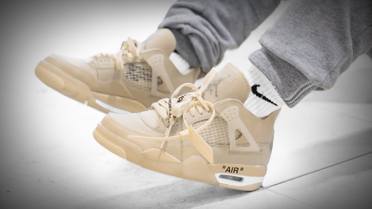 The Best Jordans to Come Out in 2020? | Nike X Off White Jordan 4 Sail On  Feet Review