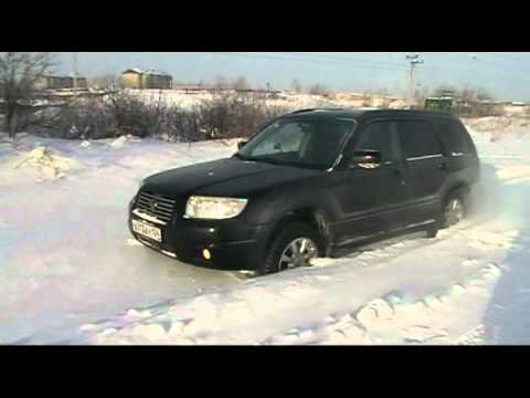 subaru forester off road in snow