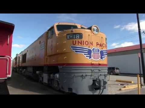 Inside the Union Pacific gas turbine electric X-18 Illinois railroad museum 2016