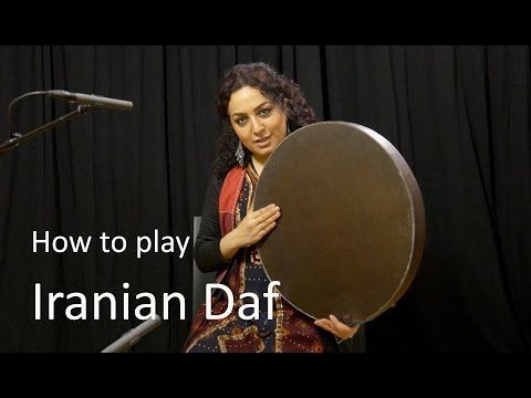 Learn to play Iranian Daf  with Naghmeh Farahmand
