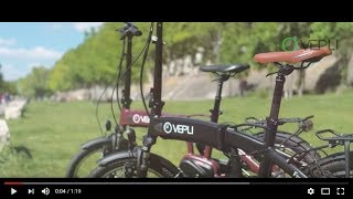 Vélo électrique pliant moteur pédalier VEPLI - Frenzy