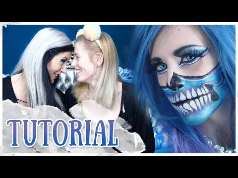 How-to make a HALF SKELETON Make-up || TUTORIAL